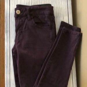 American Eagle dark purple super stretch jeans